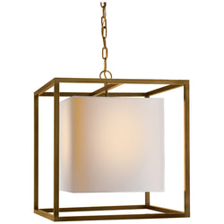 Visual Comfort SC 5160HAB Eric Cohler Caged Medium Lantern in Hand-Rubbed Antique Brass