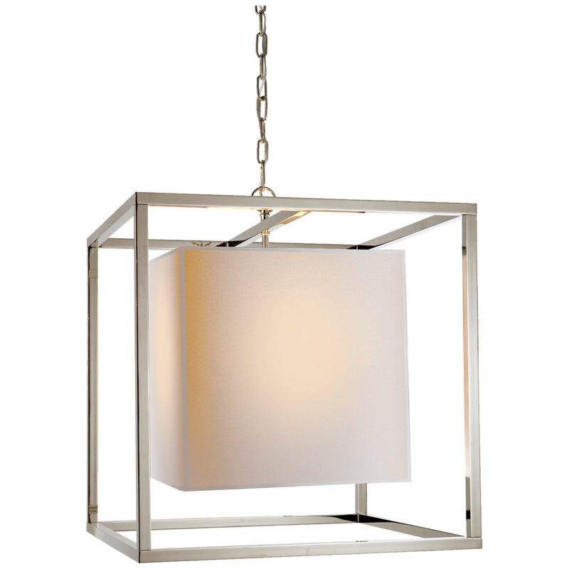 Visual Comfort SC 5160PN Eric Cohler Caged Medium Lantern in Polished Nickel