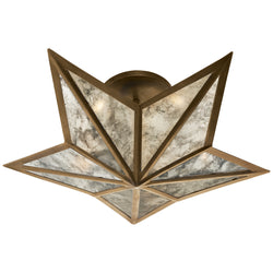 Visual Comfort SE 4100HAB Studio VC Constellation Small Flush Mount in Hand-Rubbed Antique Brass