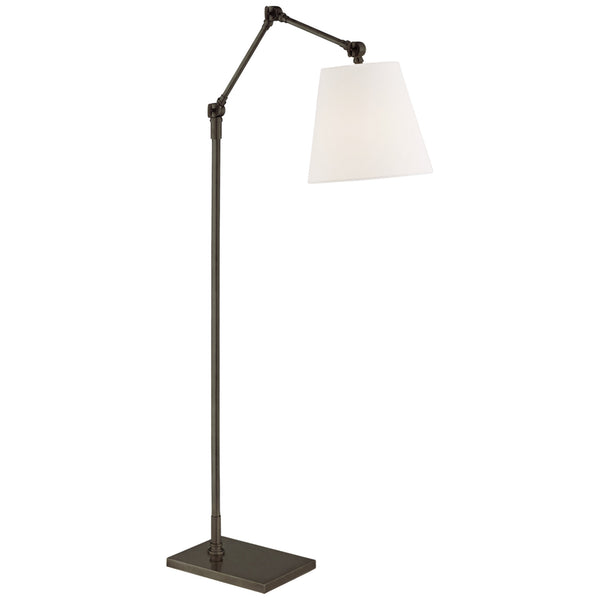 Visual Comfort SK 1115BZ-L Suzanne Kasler Modern Graves Articulating Floor Lamp in Bronze