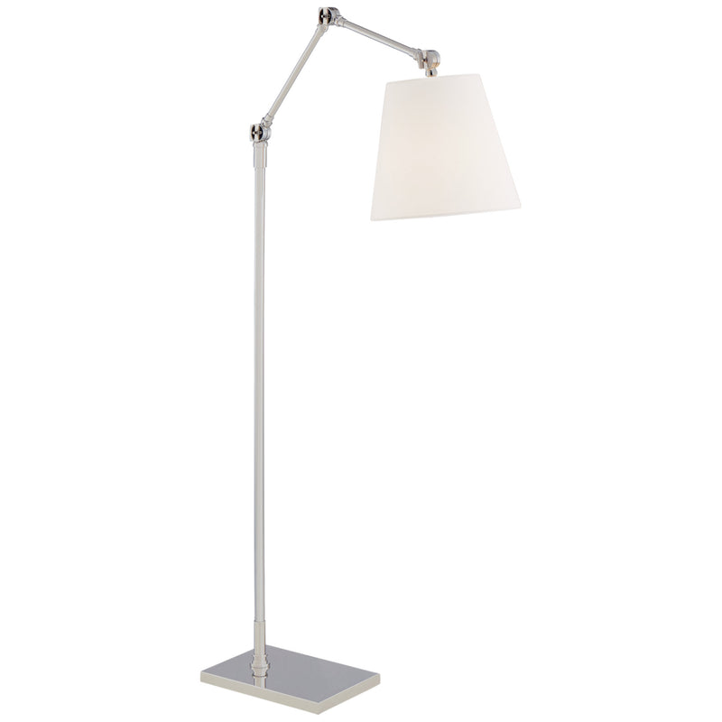 Visual Comfort SK 1115PN-L Suzanne Kasler Graves Articulating Floor Lamp in Polished Nickel