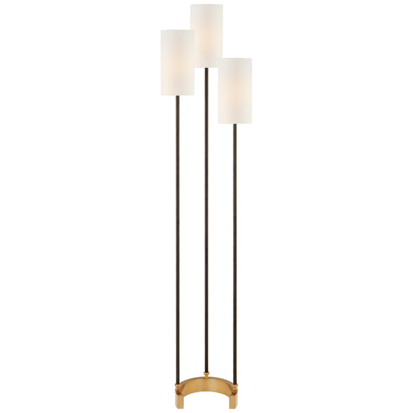 Visual Comfort SK 1550BZ/HAB-L Suzanne Kasler Modern Aimee Floor Lamp in Bronze and Hand-Rubbed Antique Brass