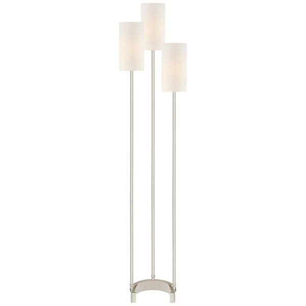 Visual Comfort SK 1550PN-L Suzanne Kasler Modern Aimee Floor Lamp in Polished Nickel