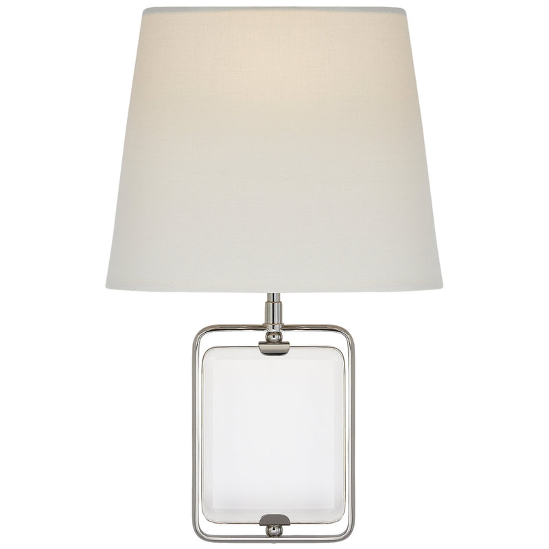 Visual Comfort SK 2030CG/PN-L Suzanne Kasler Henri Framed Jewel Sconce in Crystal and Polished Nickel
