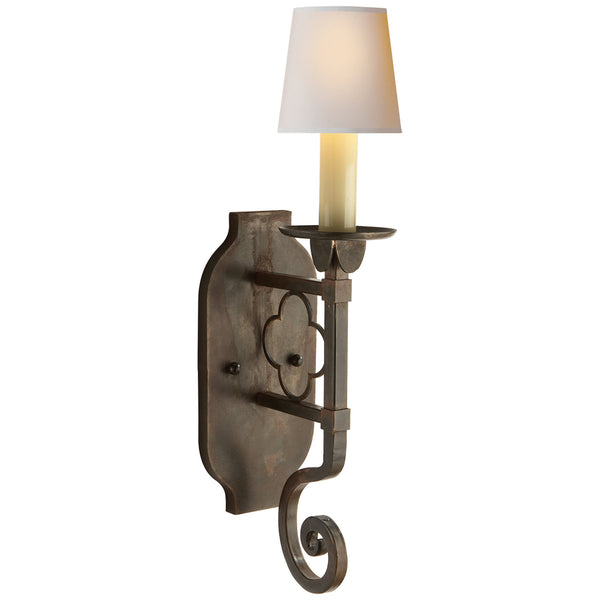 Visual Comfort SK 2105AI Suzanne Kasler Margarite Single Sconce in Aged Iron