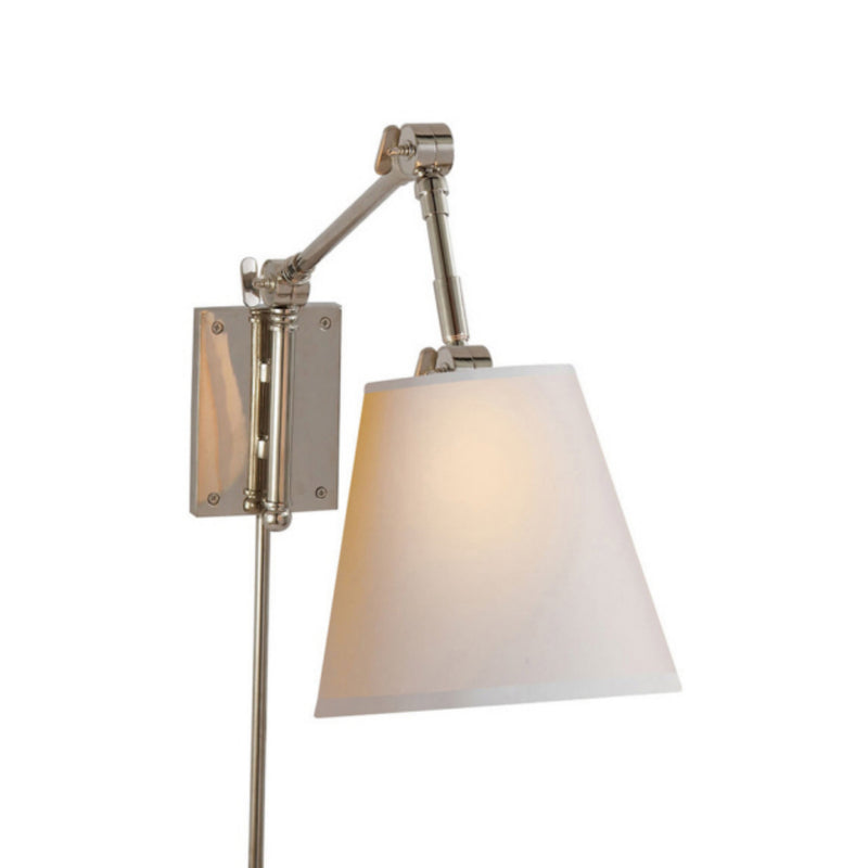 Visual Comfort SK 2115PN-NP Suzanne Kasler Graves Pivoting Sconce in Polished Nickel