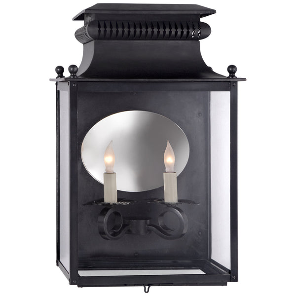 Visual Comfort SK 2326BC Suzanne Kasler Traditional Honore Medium 3/4 Sconce in Blackened Copper