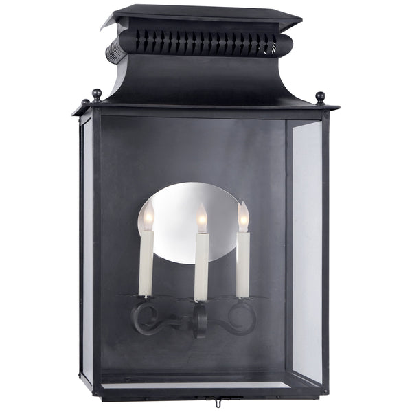 Visual Comfort SK 2327BC Suzanne Kasler Traditional Honore Large 3/4 Sconce in Blackened Copper