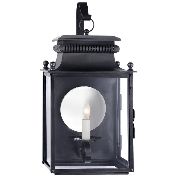 Visual Comfort SK 2350BC Suzanne Kasler Traditional Honore Small Bracketed Wall Lantern in Blackened Copper