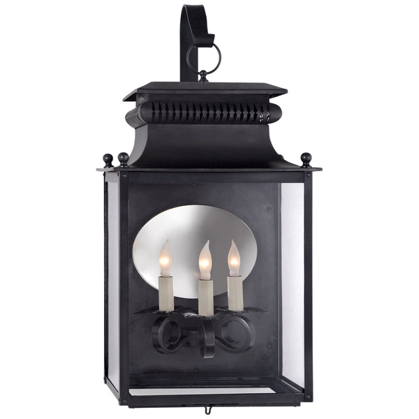 Visual Comfort SK 2351BC Suzanne Kasler Traditional Honore Medium Bracketed Wall Lantern in Blackened Copper