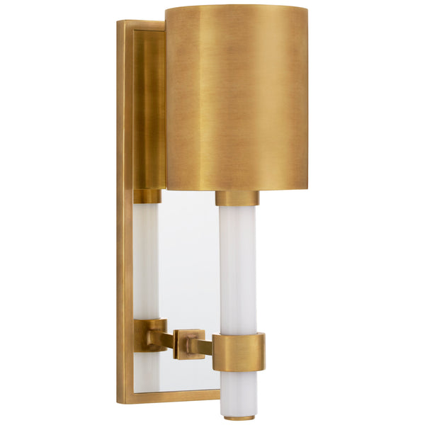 Visual Comfort SK 2450HAB-HAB Suzanne Kasler Modern Maribelle Single Sconce in Hand-Rubbed Antique Brass