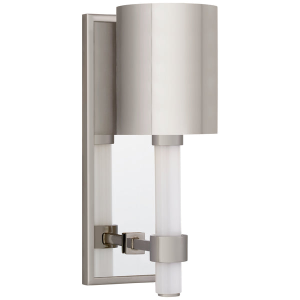Visual Comfort SK 2450PN-PN Suzanne Kasler Modern Maribelle Single Sconce in Polished Nickel