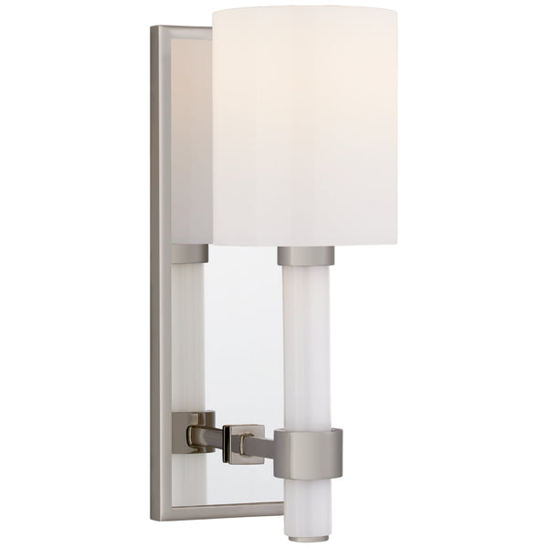 Visual Comfort SK 2450PN-WG Suzanne Kasler Modern Maribelle Single Sconce in Polished Nickel