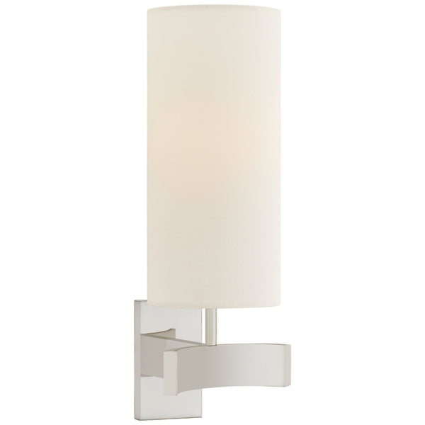 Visual Comfort SK 2551PN-L Suzanne Kasler Modern Aimee Single Sconce in Polished Nickel