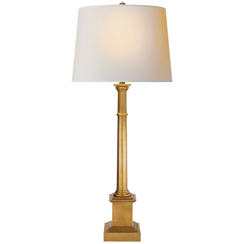 Visual Comfort SK 3008HAB-NP Suzanne Kasler Josephine Table Lamp in Hand-Rubbed Antique Brass