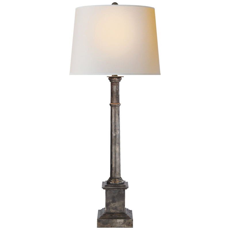 Visual Comfort SK 3008SHS-NP Suzanne Kasler Josephine Table Lamp in Sheffield Silver