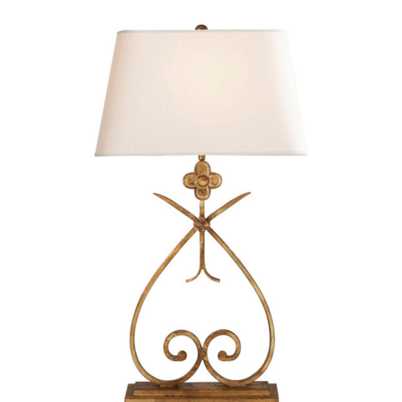 Visual Comfort SK 3100GI-NP Suzanne Kasler Harper Table Lamp in Gilded Iron