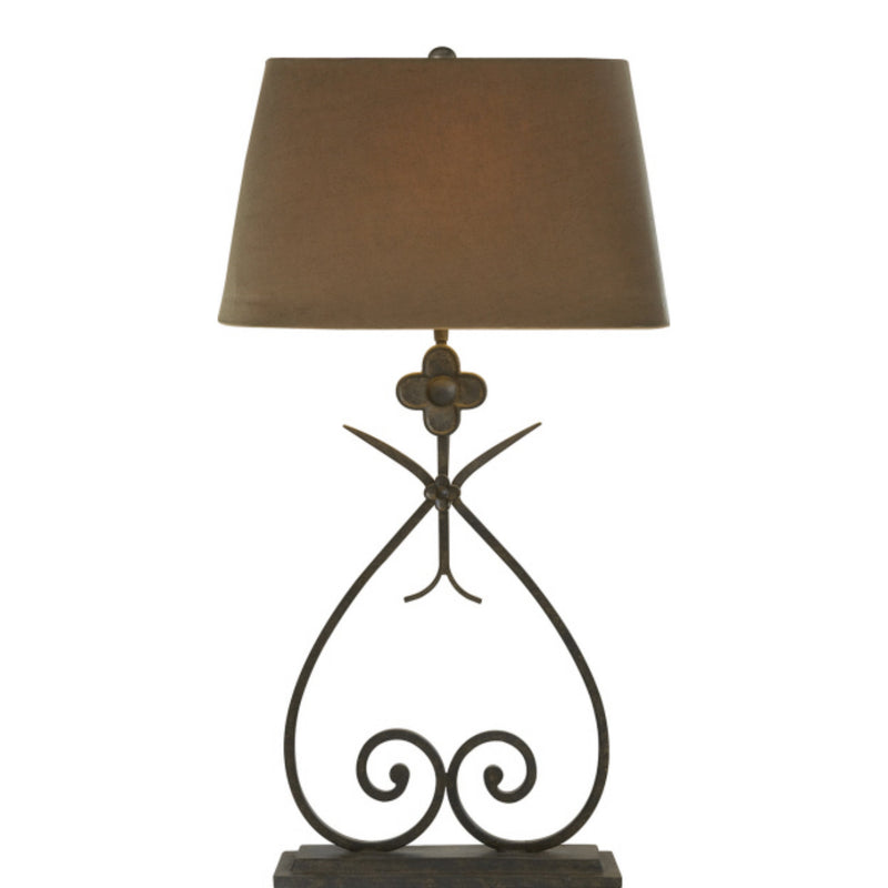 Visual Comfort SK 3100NR-TL Suzanne Kasler Harper Table Lamp in Natural Rusted Iron