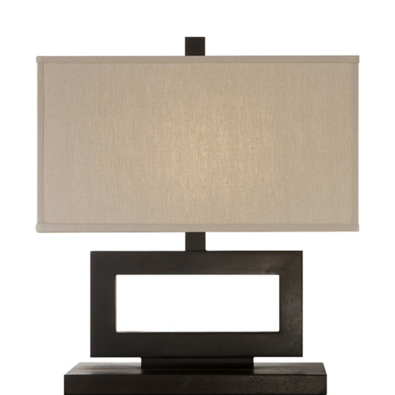 Visual Comfort SK 3207AI-L Suzanne Kasler Mod Low Table Lamp in Aged Iron
