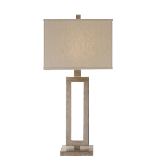 Visual Comfort SK 3208BSL-L Suzanne Kasler Modern Mod Tall Table Lamp in Burnished Silver Leaf