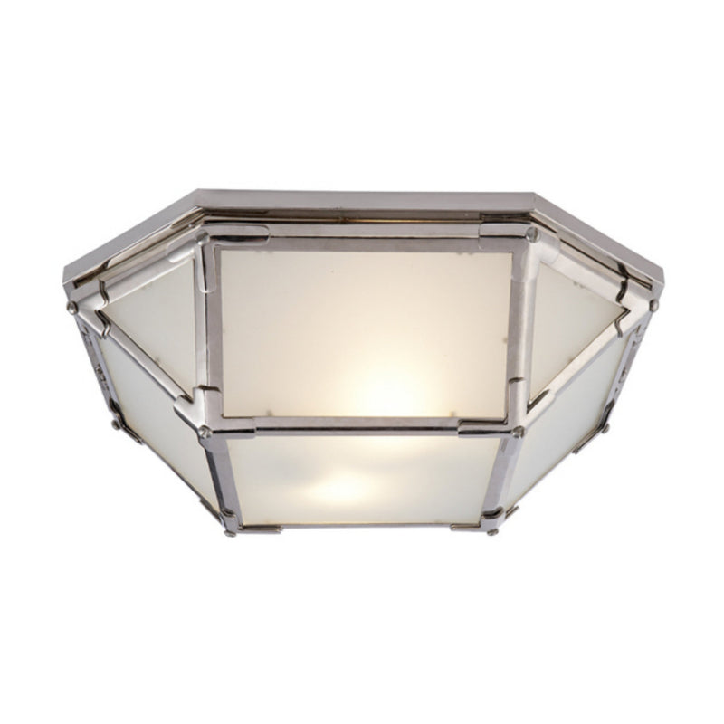 Visual Comfort SK 4008PN-FG Suzanne Kasler Morris Flush Mount in Polished Nickel