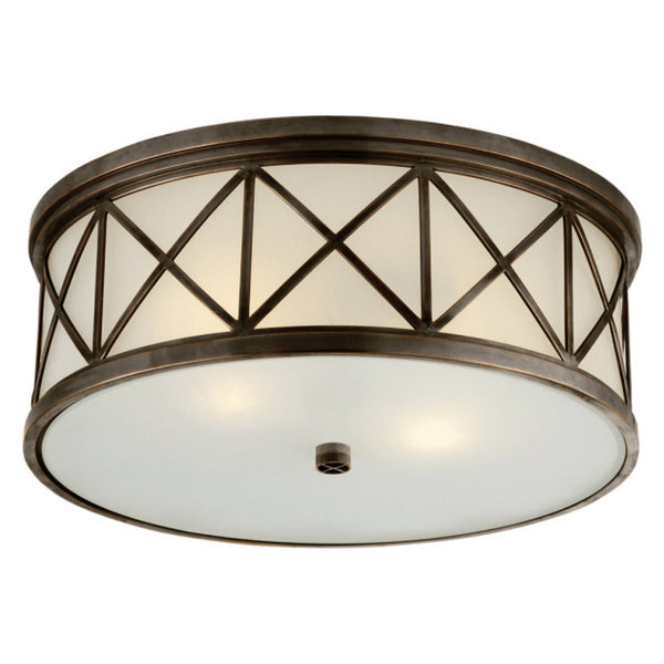 Visual Comfort SK 4011BZ-FG Suzanne Kasler Traditional Montpelier Large Flush Mount in Bronze