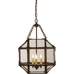 Visual Comfort SK 5008AZ-CG Suzanne Kasler Morris Small Lantern in Antique Zinc