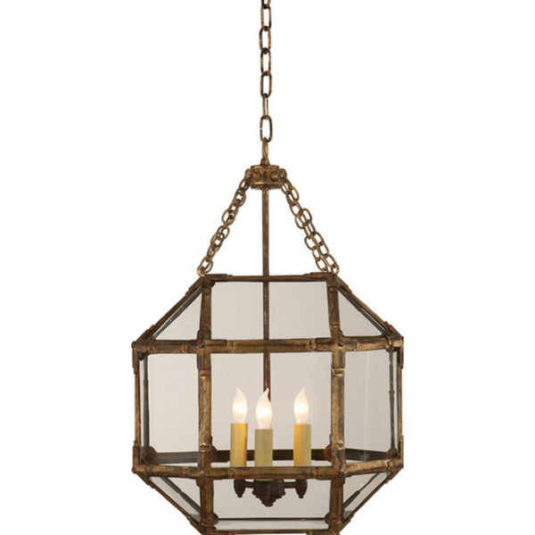 Visual Comfort SK 5008GI-CG Suzanne Kasler Morris Small Lantern in Gilded Iron