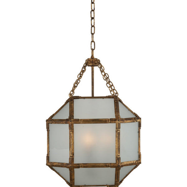 Visual Comfort SK 5008GI-FG Suzanne Kasler Casual Morris Small Lantern in Gilded Iron