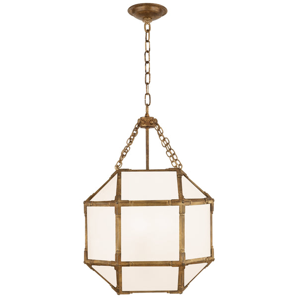 Visual Comfort SK 5008GI-WG Suzanne Kasler Casual Morris Small Lantern in Gilded Iron