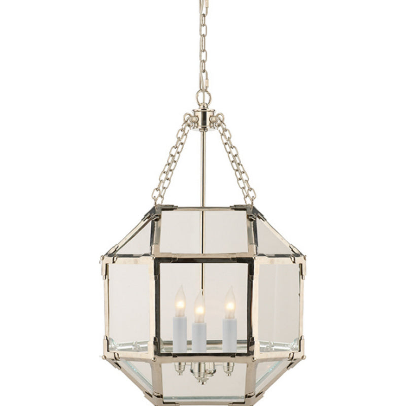 Visual Comfort SK 5008PN-CG Suzanne Kasler Morris Small Lantern in Polished Nickel
