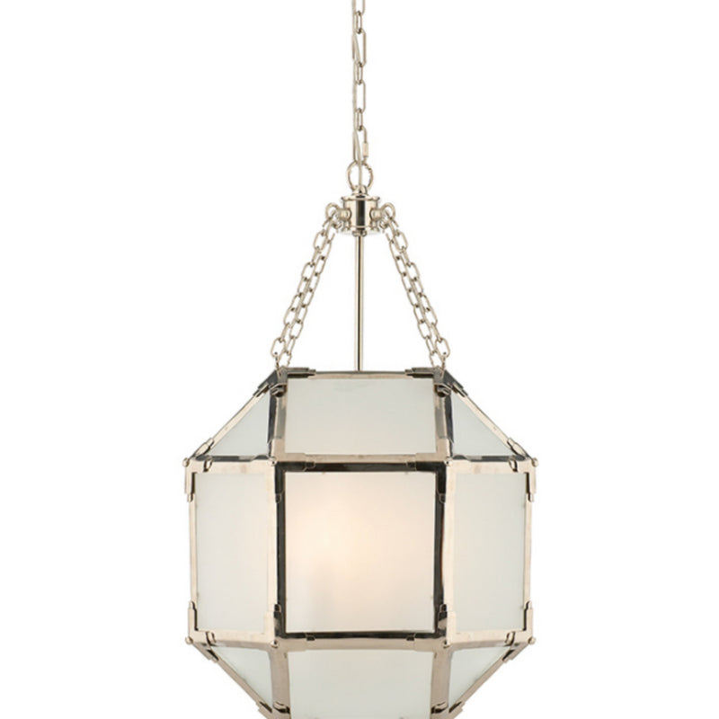 Visual Comfort SK 5008PN-FG Suzanne Kasler Morris Small Lantern in Polished Nickel