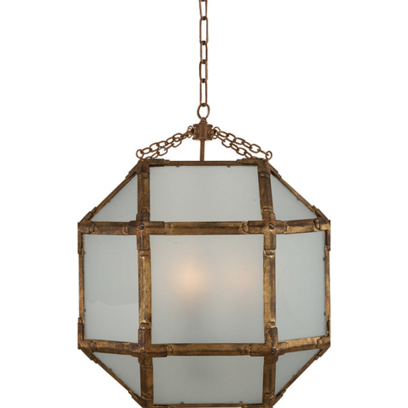 Visual Comfort SK 5009GI-FG Suzanne Kasler Morris Medium Lantern in Gilded Iron