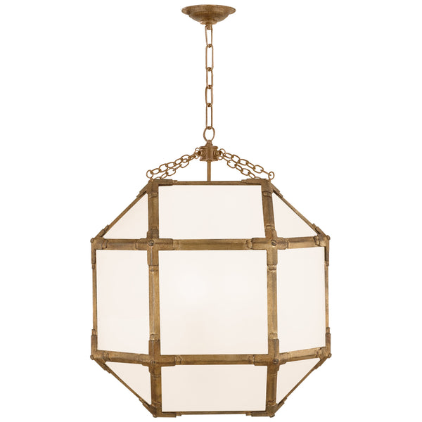 Visual Comfort SK 5009GI-WG Suzanne Kasler Casual Morris Medium Lantern in Gilded Iron