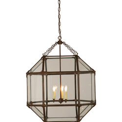 Visual Comfort SK 5010AZ-CG Suzanne Kasler Morris Large Lantern in Antique Zinc