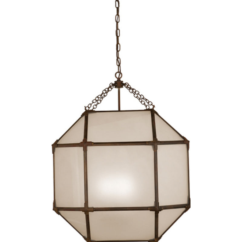 Visual Comfort SK 5010AZ-FG Suzanne Kasler Morris Large Lantern in Antique Zinc