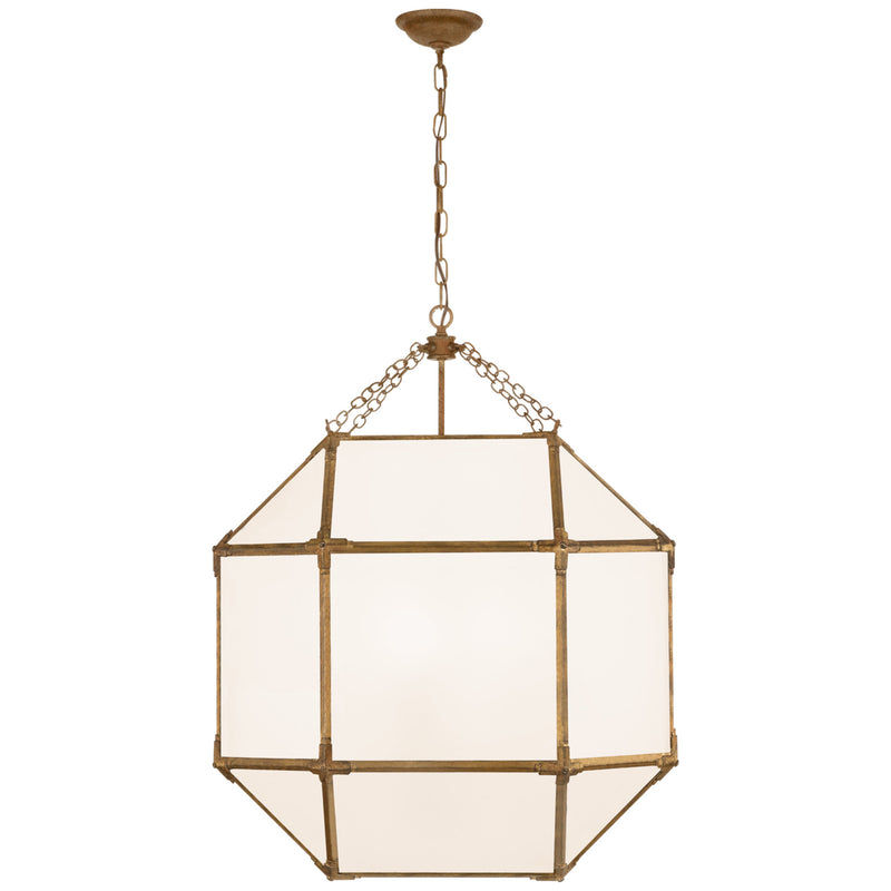 Visual Comfort SK 5010GI-WG Suzanne Kasler Morris Large Lantern in Gilded Iron