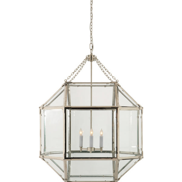 Visual Comfort SK 5010PN-CG Suzanne Kasler Casual Morris Large Lantern in Polished Nickel