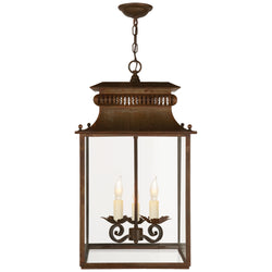 Visual Comfort SK 5300AZ Suzanne Kasler Honore Small Lantern in Antique Zinc