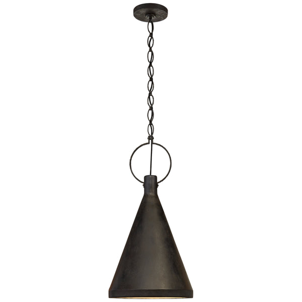 Visual Comfort SK 5361NR-AI Suzanne Kasler Casual Limoges Medium Tall Pendant in Natural Rust
