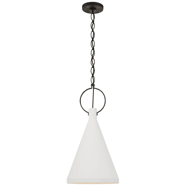 Visual Comfort SK 5361NR-PW Suzanne Kasler Casual Limoges Medium Tall Pendant in Natural Rust