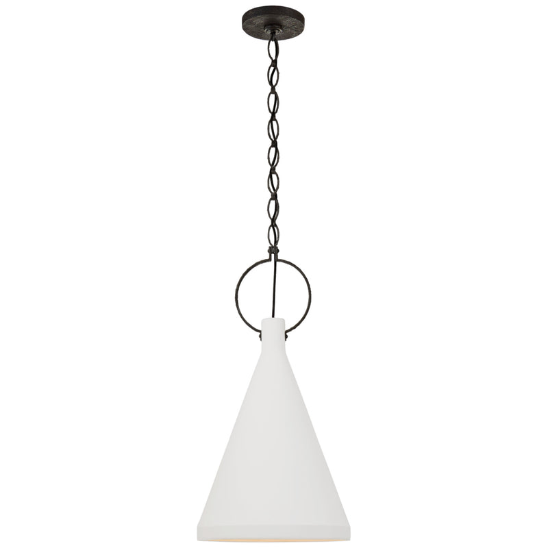 Visual Comfort SK 5361NR-PW Suzanne Kasler Limoges Medium Tall Pendant in Natural Rust