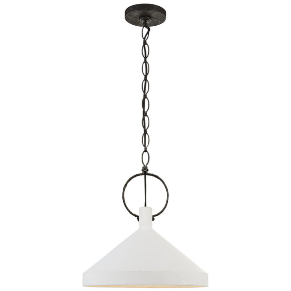 Visual Comfort SK 5363NR-PW Suzanne Kasler Limoges Large Pendant in Natural Rusted Iron