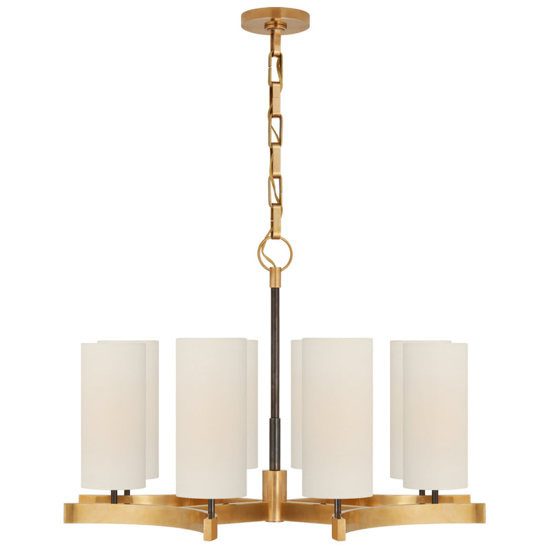 Visual Comfort SK 5550BZ/HAB-L Suzanne Kasler Aimee Medium Chandelier in Bronze and Hand-Rubbed Antique Brass