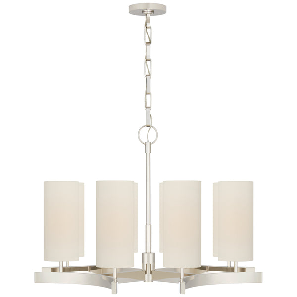 Visual Comfort SK 5550PN-L Suzanne Kasler Modern Aimee Medium Chandelier in Polished Nickel