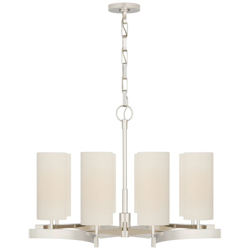 Visual Comfort SK 5550PN-L Suzanne Kasler Aimee Medium Chandelier in Polished Nickel