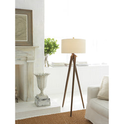 Visual Comfort SL 1700FW-NP Chapman & Myers Tripod Floor Lamp in French Waxed Wood