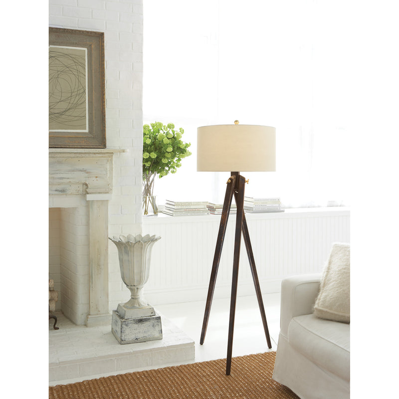 Visual Comfort SL 1700TB-NP Chapman & Myers Tripod Floor Lamp in Tudor Brown Stain