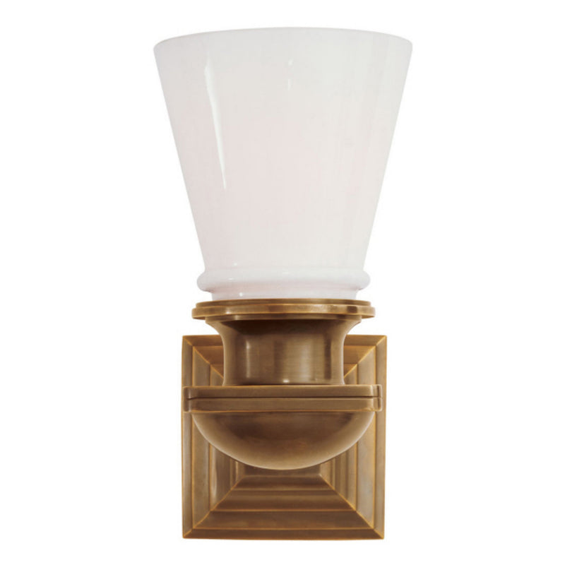 Visual Comfort SL 2151HAB-WG Chapman & Myers New York Subway Single Light in Hand-Rubbed Antique Brass