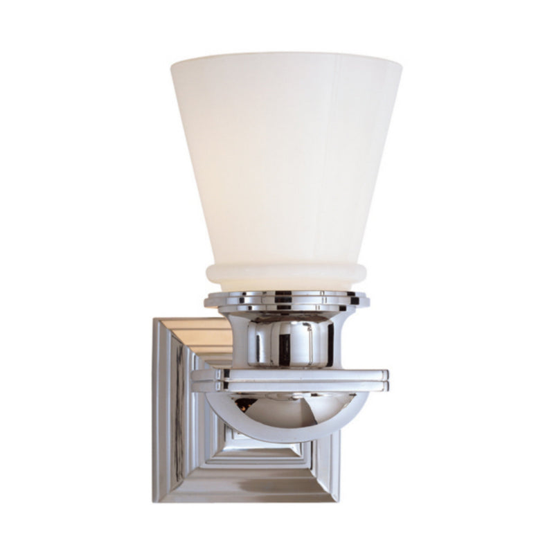 Visual Comfort SL 2151PN-WG Chapman & Myers New York Subway Single Light in Polished Nickel